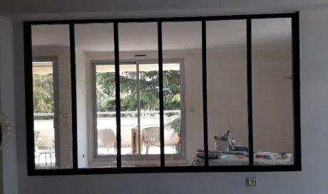 Installation et pose verrière intérieure aluminium sur mesure à Chamalières