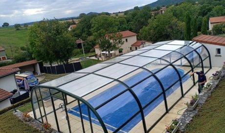 Remplacement de polycarbonate alvéolaire sur abris de piscine à Cournon d'Auvergne